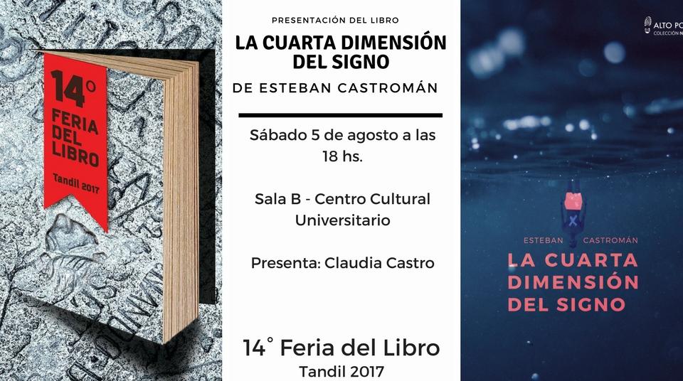 """Sábado 5 de agosto – Presentación del libro """"La cuarta dimensión del ..."""
